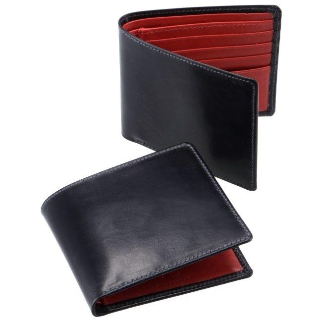 ホワイトハウスコックス/WHITEHOUSE COX 財布 メンズ ブライドルレザー 二つ折り財布 NAVY/RED 2020年秋冬新作 S2377-SC-0009