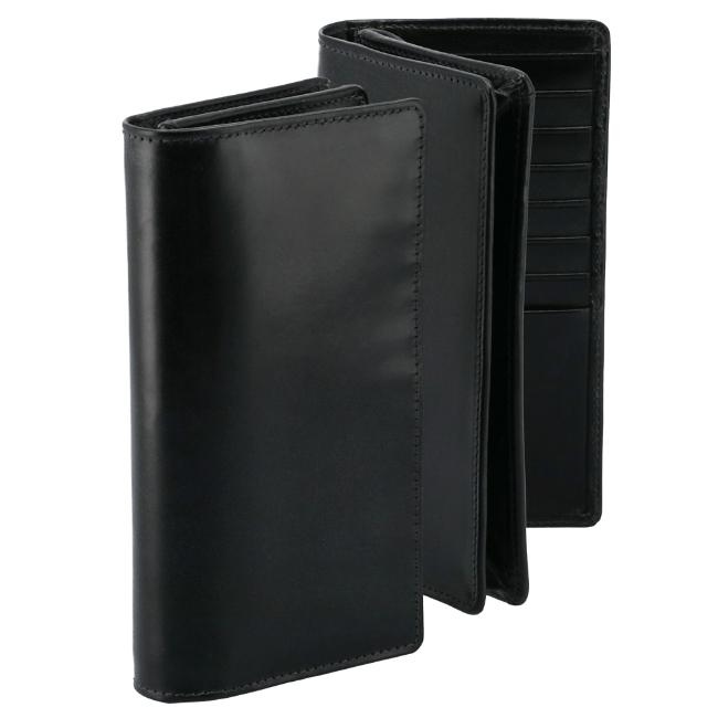 ホワイトハウスコックス 2つ折り長財布 WHITEHOUSE COX 財布 ブライドルレザー ブラック S8819-SC-0001