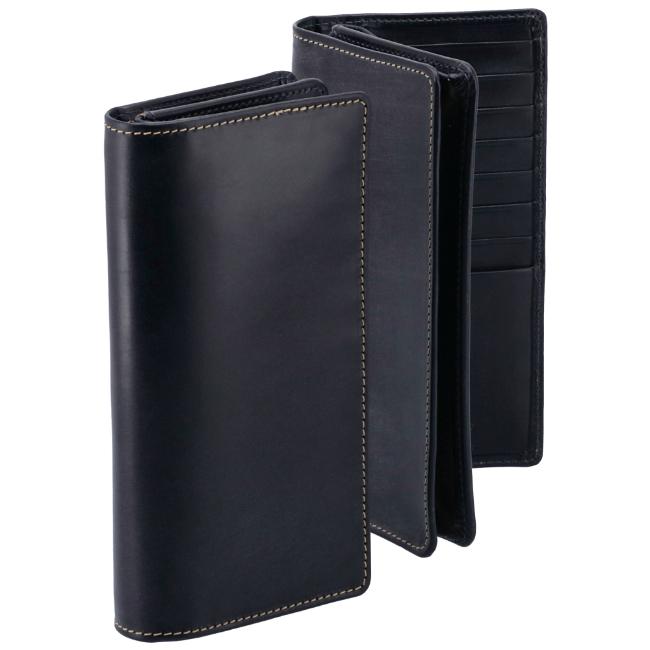 ホワイトハウスコックス 2つ折り長財布 WHITEHOUSE COX 財布 ブライドルレザー ネイビー S8819-SC-0002
