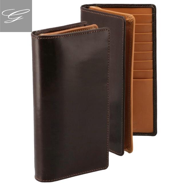 ホワイトハウスコックス 2つ折り長財布 WHITEHOUSE COX 財布 ブライドルレザー ブラウン×マスタード S8819-SC-0006