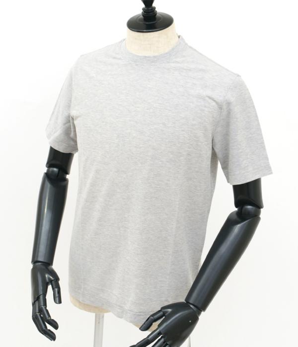 【2019AW SALE】ザノーネ/ZANONE Tシャツ メンズ クルーネックTシャツ LIGHT GREY 811821-ZY343-Z5154【2019AWS】