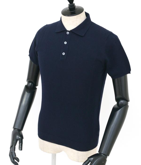 ザノーネ/ZANONE シャツ メンズ コットン ポロシャツ DARK NAVY 2018年春夏 811993-ZY393-Z0542