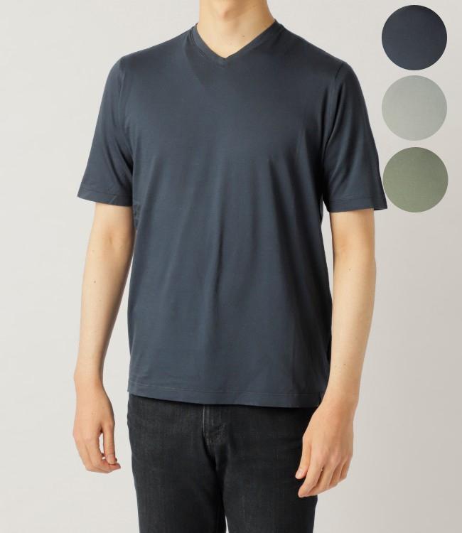 【2019AW SALE】ザノーネ/ZANONE Tシャツ メンズ VネックTシャツ 81M015-ZY387-Z1577【2019AWS】