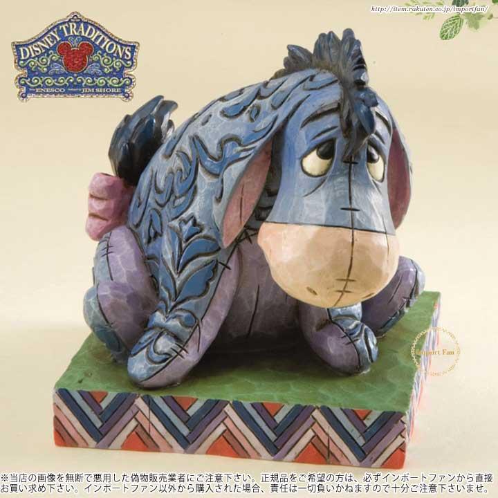 ジムショア プーさんと森の仲間たち イーヨー フィギュア ディズニー 4011755 True Blue Companion-Eeyore Personality Pose Figurine JimShore □