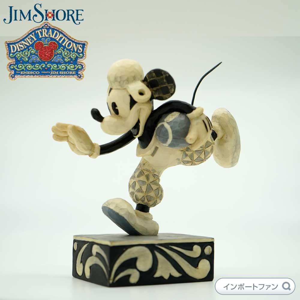 ジムショア ミッキーマウス ラグビー タッチダウンしようとして ディズニー 4023570 Go For The Touch Down-Black and White Football Mickey Figurine JimShore 【ポイント最大43倍!お買物マラソン】