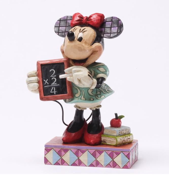 ジムショア ミニーマウス クラスの首位 ディズニー 4031470 Top Of The Class-Teacher Minnie Personality Pose Figurine JimShore【ポイント最大43倍!スーパー セール】