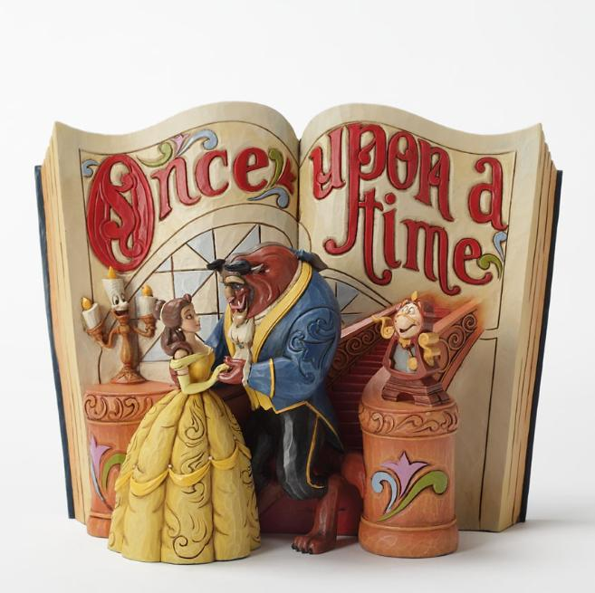 ジムショア ベルとビーストとルミエールとコグワース ストーリーブック 持ちこたえた愛 美女と野獣 ディズニー 4031483 Love Endures-Beauty And The Beast Storybook Figurine JimShore □