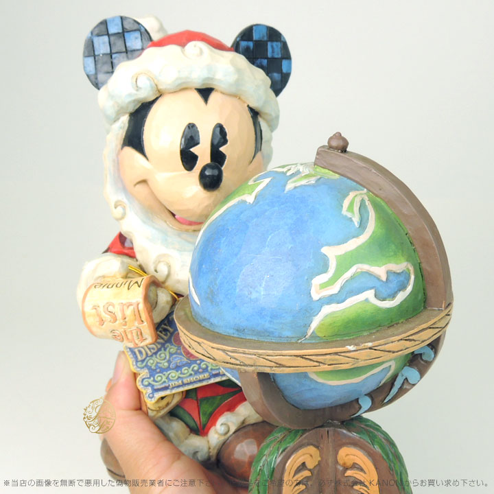 ジムショア 世界中に季節のご挨拶 サンタミッキーマウスと地球儀 クリスマス ディズニー 4033271 Seasons Greetings Around The World-St. Mick With Globe Figurine JimShore □