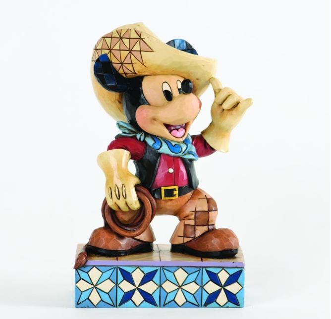 ジムショア カーボーイのミッキーマウス 家畜ミッキー ディズニー 4033286 Roundup Mickey-Cowboy Mickey Mouse Figurine JimShore 【ポイント最大43倍!お買物マラソン】