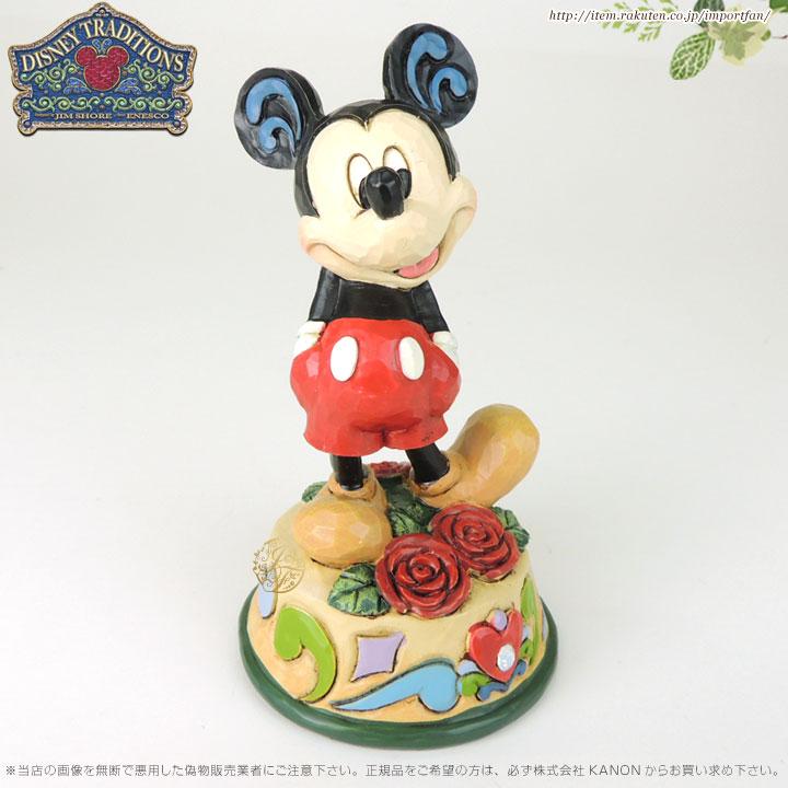 ジムショア 6月 ミッキーマウス バラ ディズニー 誕生日祝いにおすすめ 4033963 June Mickey Mouse Figurine JimShore【ポイント最大43倍!スーパー セール】