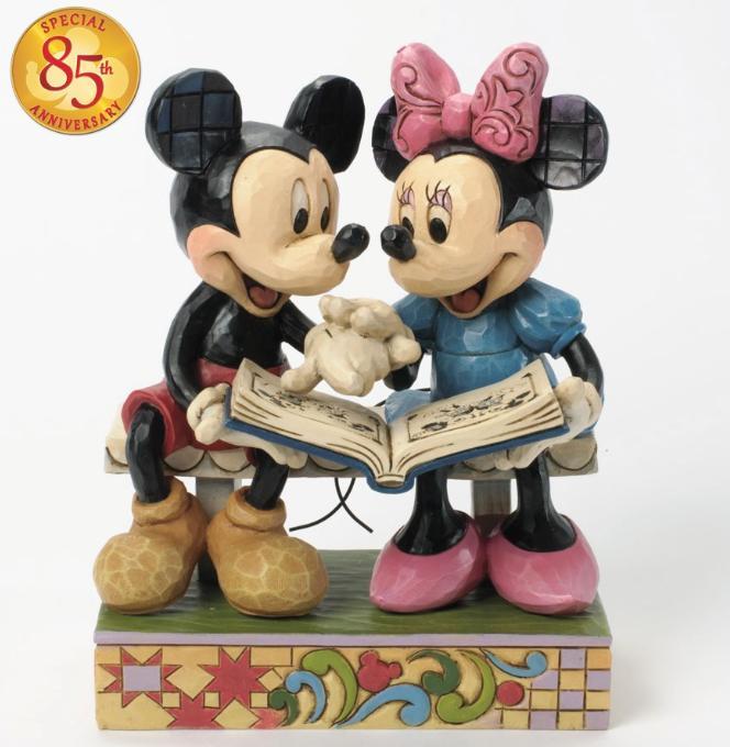 ジムショア ミッキーとミニ― 思い出の共有 85周年記念作品 ディズニー 4037500 Sharing Memories-Mickey And Minnie 85th Anniversary Figurine JimShore □