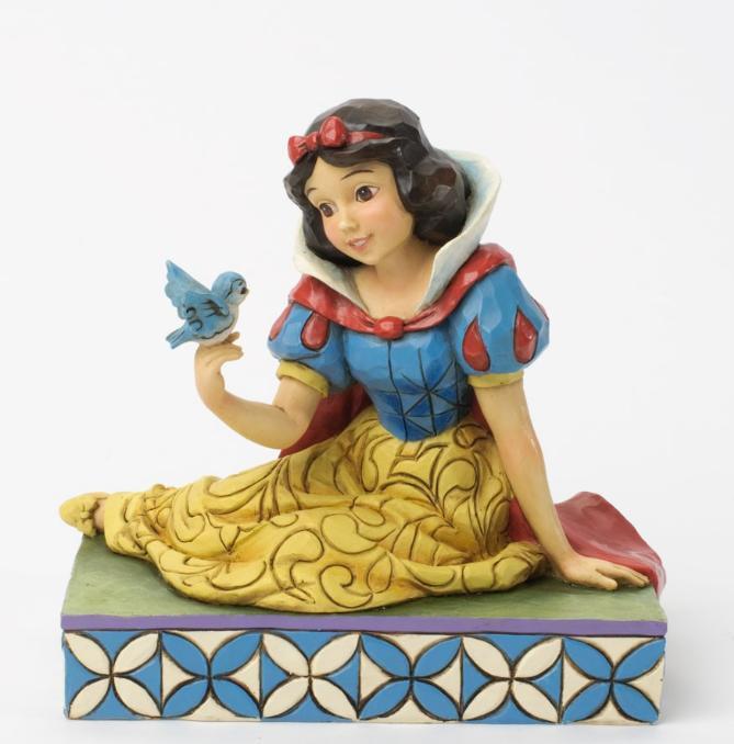 ジムショア 白雪姫と鳥 親切と調和 白雪姫 ディズニー 4037512 Gentleness And Harmony-Snow White With Bird Figurine JimShore □
