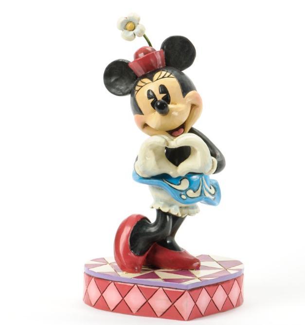 ジムショア ミニーマウス ハートをあなたに ディズニー 4037519 I Heart You-Minnie Love Symbol Figurine JimShore 【ポイント最大43倍!お買物マラソン】