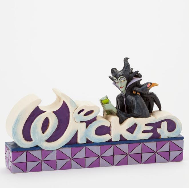ジムショア マレフィセントとカラス 邪悪な 眠れる森の美女 ディズニー 4038490 Wicked-Maleficent Wicked Word Figurine JimShore 【ポイント最大43倍!お買物マラソン】