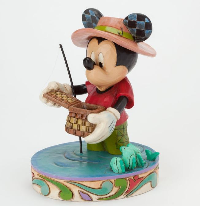 ジムショア ミッキーマウス 釣れるようになりたい ディズニー 4038493 I'd Rather Be Fishing-Mickey Mouse Fishing Figurine JimShore □