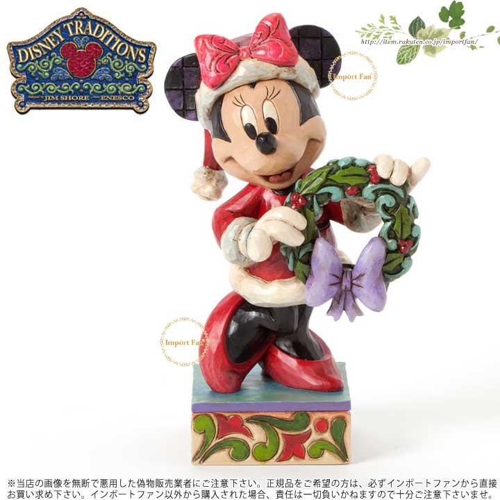 ジムショア サンタ ミニーマウス クリスマスのあいさつ ディズニー 4039034 Season's Greetings-Minnie As Mrs. Claus Figurine JimShore □