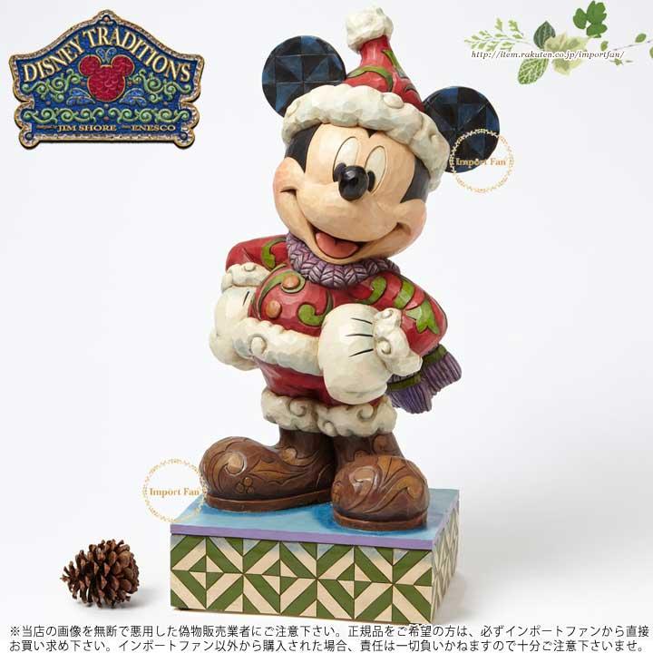 ジムショア メリークリスマス ミッキーマウス ビック サンタ ディズニー 4039042 Merry Christmas Winter Mickey Mouse Large Figurine JimShore 【ポイント最大42倍!お買物マラソン】