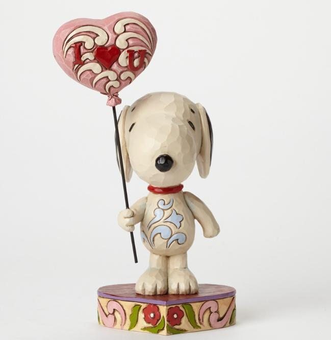 ジムショア スヌーピーとハートの風船 ハートをあなたに 4042378 I Heart U-Snoopy With Heart Balloon Figurine JimShore【ポイント最大43倍!スーパー セール】