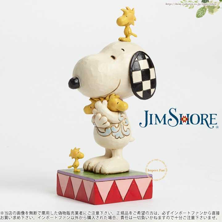 ジムショア ウッドストックを愛情込めて抱きしめるスヌーピー ウッドストックとスヌーピー 4043614 Love Is A Beagle Hug-Snoopy With Woodstock Figurine JimShore□