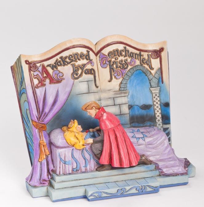 ジムショア オーロラ姫とフィリップ王子 魔法にかけられたキス 眠れる森の美女 ディズニー 4043627 Enchanted Kiss-Sleeping Beauty Story Book Figurine JimShore □