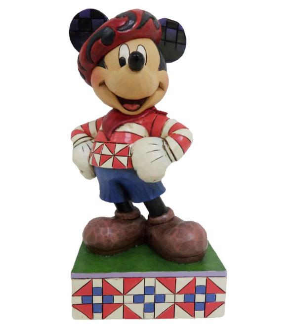 ジムショア ミッキーマウス フランスからあいさつ ディズニー 4043628 Greetings From France-Mickey Mouse In France Figurine JimShore □