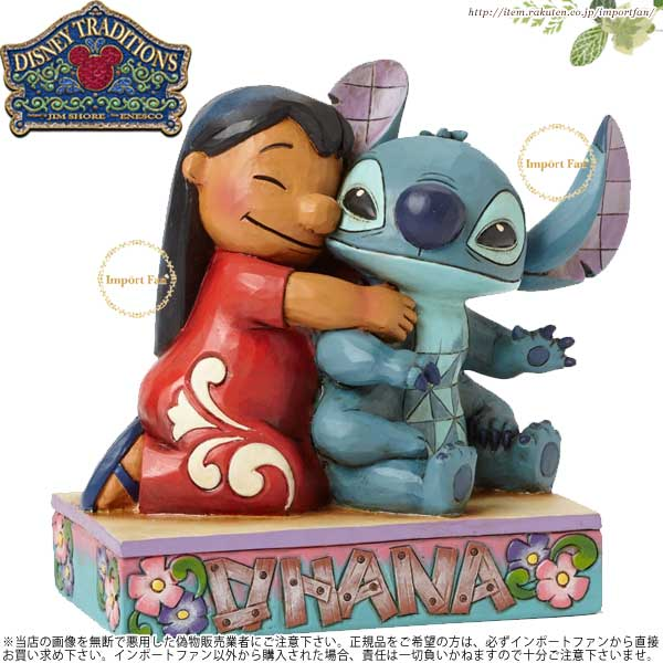 ジムショア ディズニー リロ&スティッチ 4043643 Jim Shore DISNEY Lilo and Stitch Ohana Means Family □