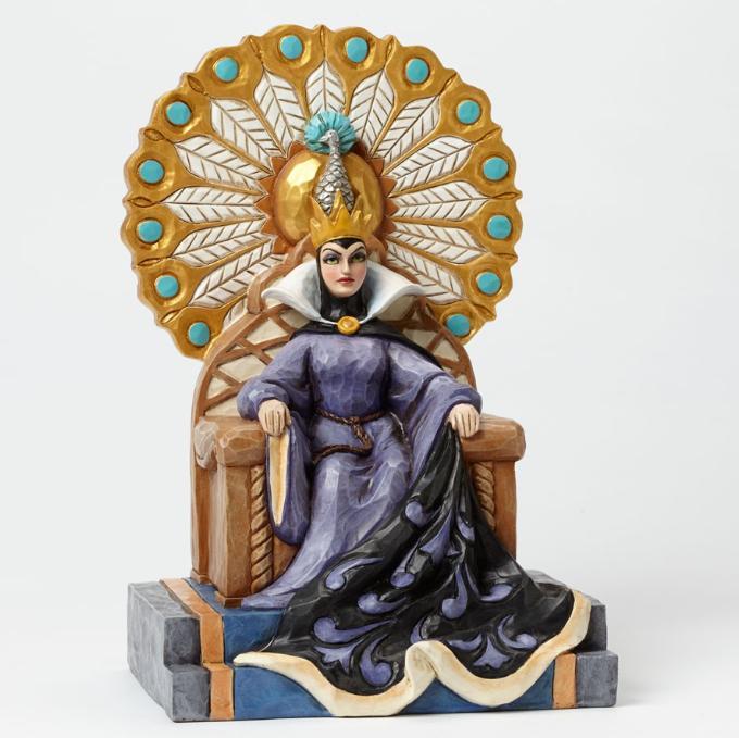 ジムショア 悪の女王 悪の王位につく 白雪姫 ディズニー 4043649 Evil Enthroned-Evil Queen On Throne Figurine JimShore□