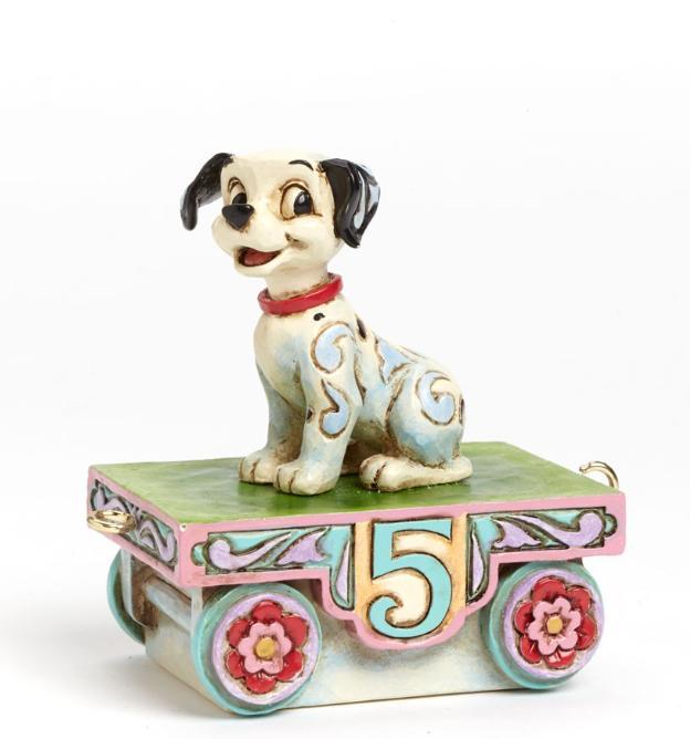ジムショア ラッキー 誕生日列車5号車 101匹わんちゃん ディズニー 4043659 Birthday Train Lucky-Lucky Train Number Five Figurine JimShore 【ポイント最大43倍!お買物マラソン】