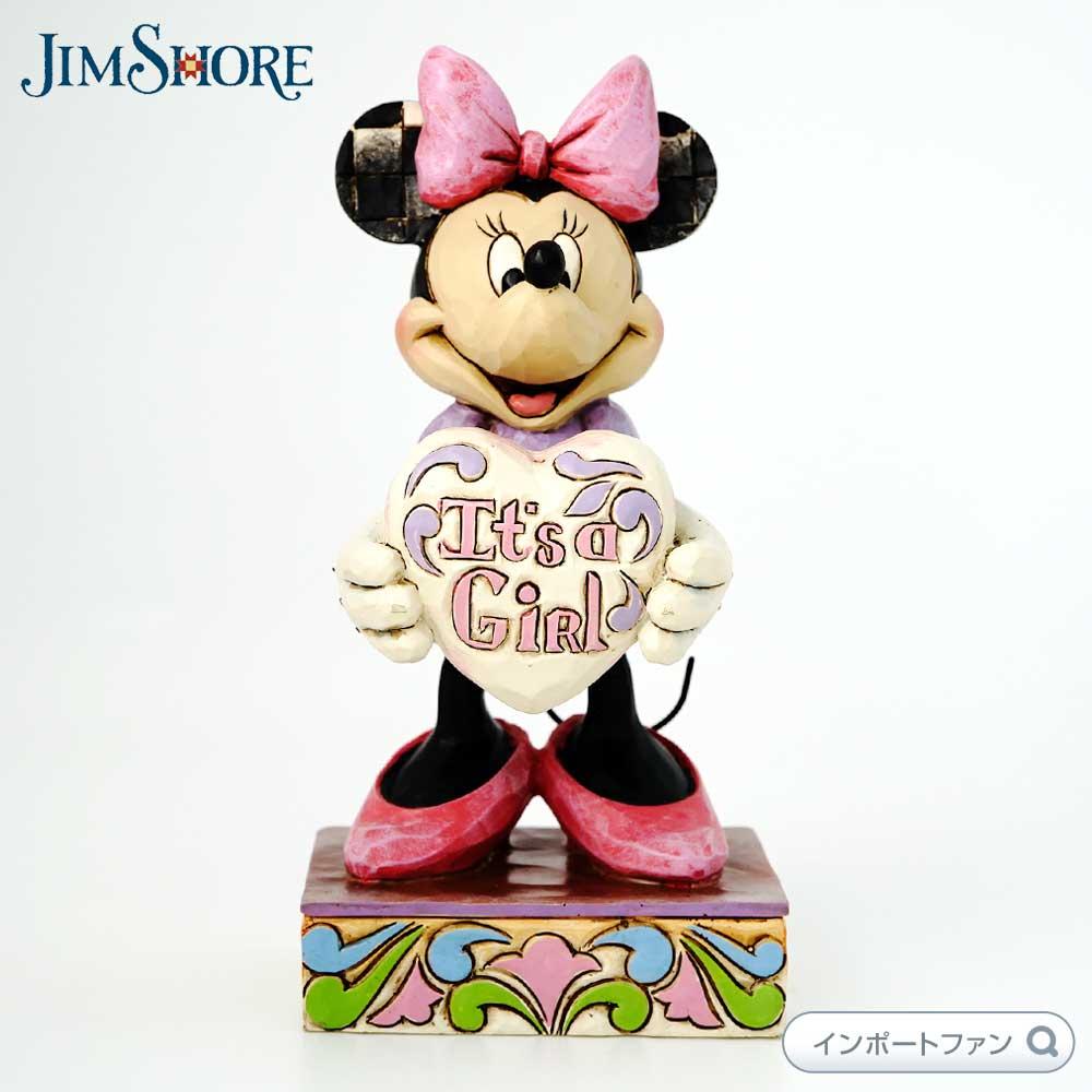 ジムショア ミニーマウス 新しい赤ちゃん 一人の女の子 ディズニー 4043664 It's A Girl-New Baby Girl Minnie Mouse Figurine JimShore【ポイント最大43倍!スーパー セール】