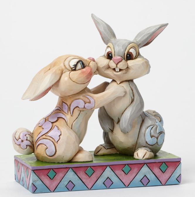 ジムショア とんすけとミスバニー 興奮 結婚祝いにおすすめ バンビ ディズニー 4043667 Twitterpation-Thumper And Miss Bunny Figurine JimShore □