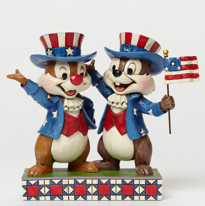ジムショア チップとデールの愛国心 アメリカにさよなら ミッキーとミニーの仲間達 ディズニー  4045236 Hooray For The USA-Patriotic Chip And Dale Figurine JimShore 【ポイント最大43倍!お買物マラソン】