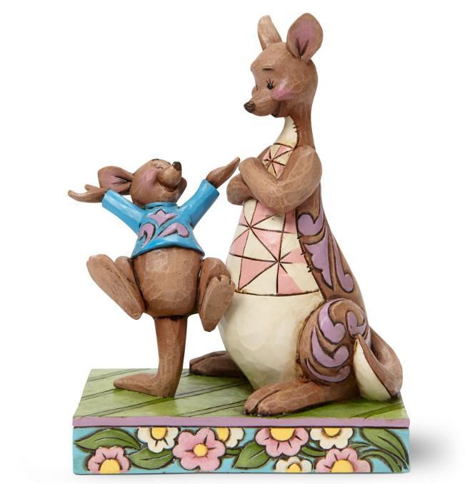 ジムショア カンガとルー 見てママ、飛んだよ! 母の日におすすめ くまのプーさん ディズニー 4045253 Look Mama I Bounced-Kanga And Roo Figurine JimShore□