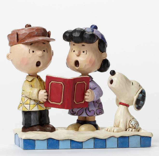 ジムショア スヌーピーとチャーリーブラウンとルーシー 地球の平和 4045883 Peace on Earth-Charlie Brown, Lucy, and Snoopy Caroling Figurine JimShore 【ポイント最大43倍!お買物マラソン】