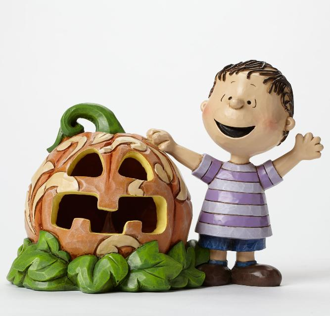 ジムショア ライナスとカボチャ 4045887 Waiting for the Great Pumpkin-Linus and the Great Pumpkin Light Up Figurine JimShore □