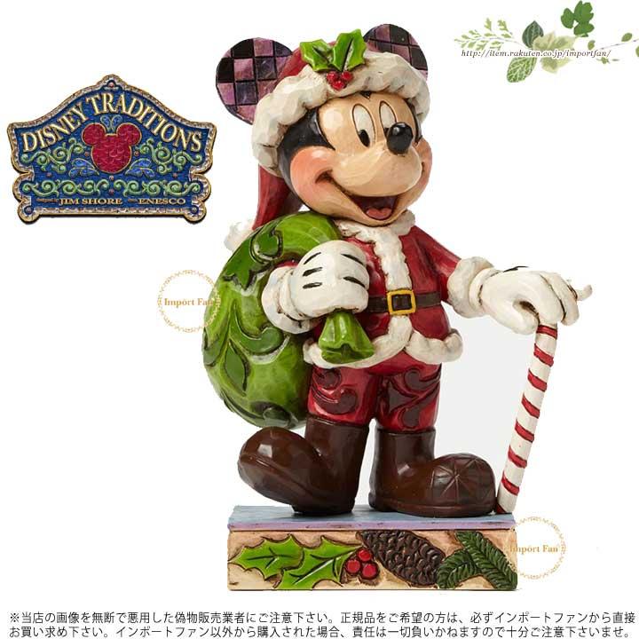 ジムショア サンタ ミッキーマウス クリスマス ディズニー 4046014 Holiday Cheer For All-Christmas Mickey Mouse Personality Pose JimShore 【ポイント最大42倍!お買物マラソン】