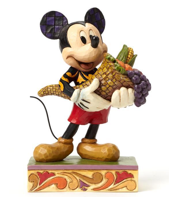ジムショア ミッキーマウス 大量の祝福 ディズニー 4046029 Bountiful Blessings-Autumn Mickey Mouse Figurine JimShore □