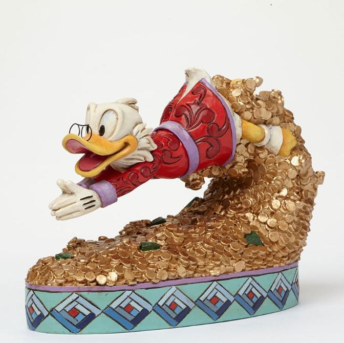 ジムショア ドナルドダック お宝にとびこむ ディズニー 4046055 Treasure Dive-Scrooge McDuck Figurine JimShore 【ポイント最大43倍!お買物マラソン】