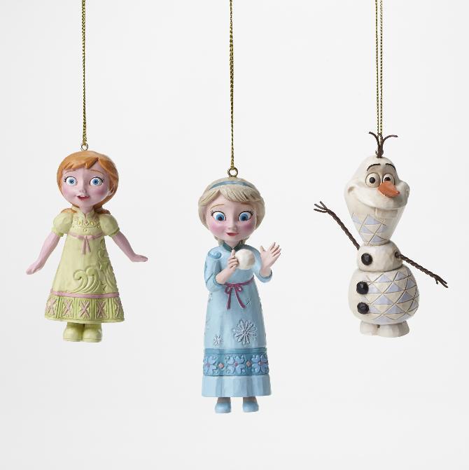 【マラソン限定2%オフクーポン】ジムショア アナとエルサとオラフ オーナメント 3点セット クリスマス アナと雪の女王 ディズニー 4046062 Frozen Ornament Set JimShore □