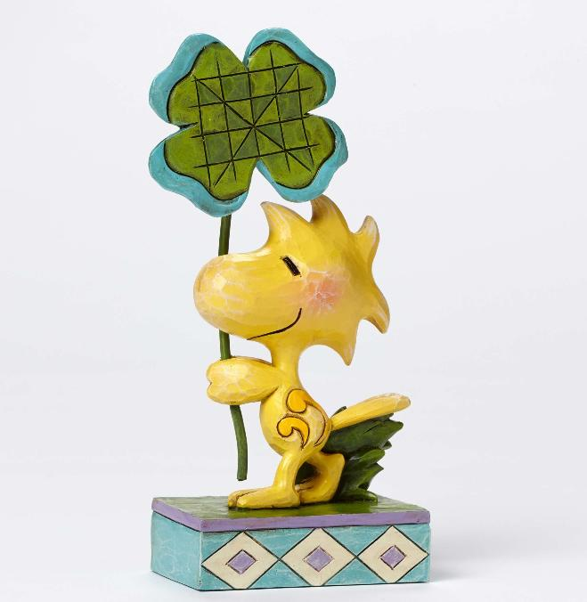 ジムショア ウッドストックと四葉のクローバー ウッドストックの幸運 スヌーピー 4049395 Luck of the Woodstock-Woodstock with Four Leaf Clover Figurine JimShore □