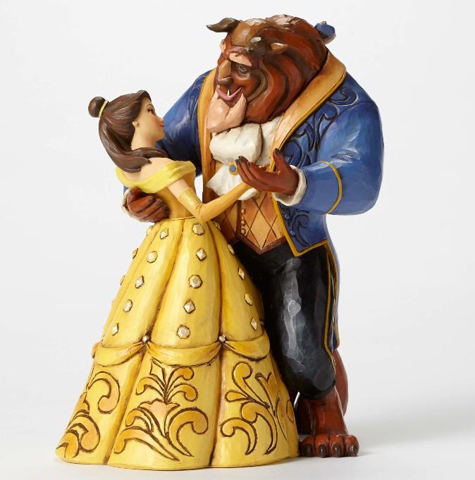 ジムショア ベルとビースト 月光のワルツ 25周年記念 美女と野獣 ディズニー 4049619 Moonlight Waltz-25th Anniversary Belle and Beast Dancing Figurine JimShore □