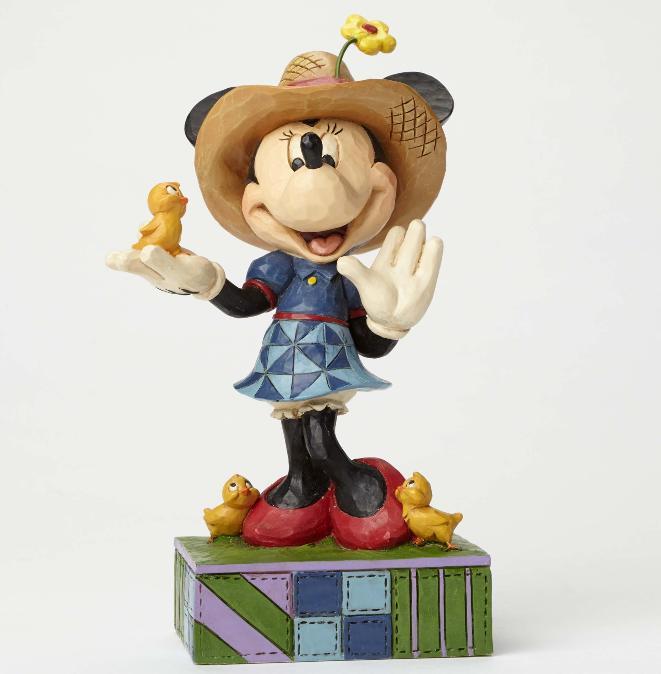 ジムショア ミニーマウスと鳥 故郷の生活 ディズニー 4049636 Country Life-Farmer Minnie Figurine JimShore 【ポイント最大43倍!お買物マラソン】