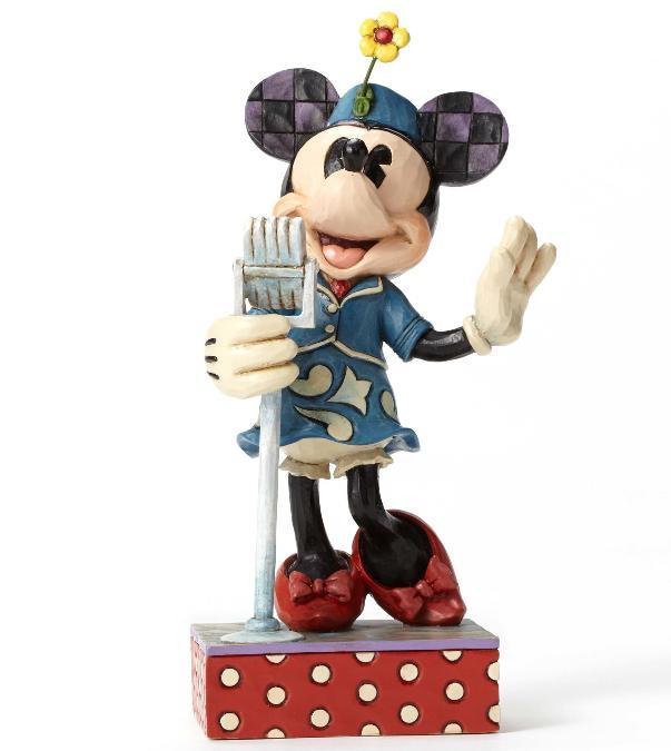 ジムショア ミニーマウス 美声のハーモニー ディズニー 4050388 Sweet Harmony-Patriotic Singer Minnie Figurine JimShore 【ポイント最大43倍!お買物マラソン】
