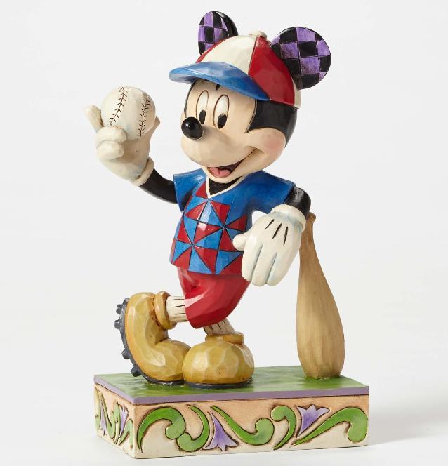 ジムショア ミッキーマウス 野球 打ちまくる ディズニー 4050400 Batter Up-Baseball Mickey Figurine JimShore 【ポイント最大43倍!お買物マラソン】