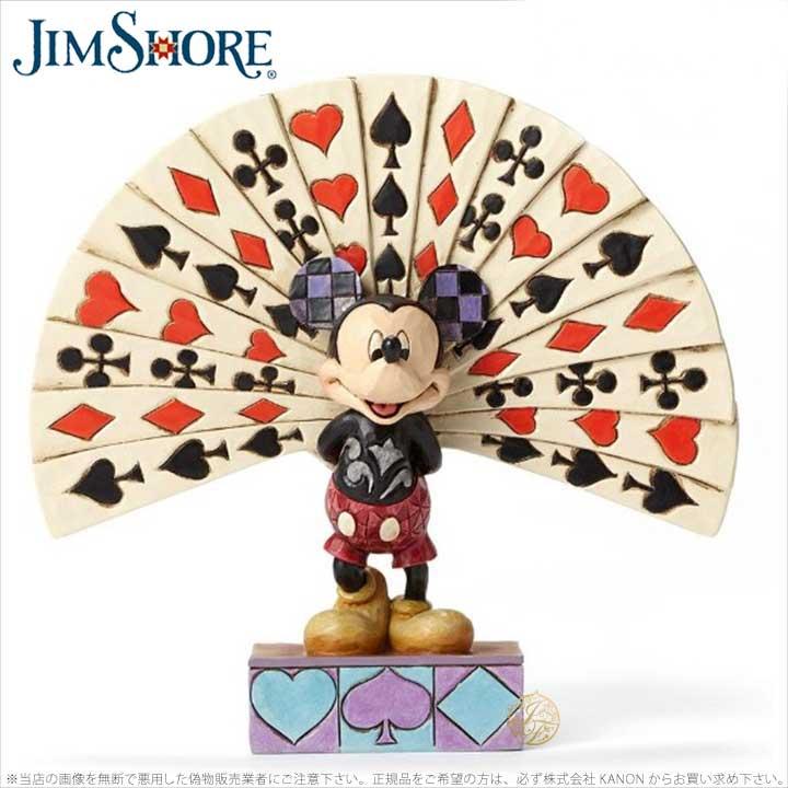 ジムショア ミッキーマウスとカード すべて飾られた ディズニー 4050405 All Decked Out-Mickey with Cards Figurine JimShore 【ポイント最大42倍!お買物マラソン】