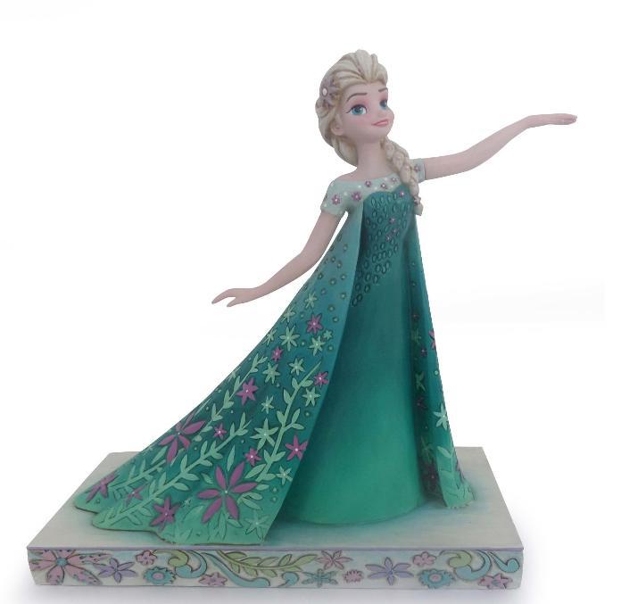 ジムショア エルサ 春のお祝い アナと雪の女王 ディズニー 4050881 Celebration of Spring-Frozen Fever Elsa Figurine JimShore □