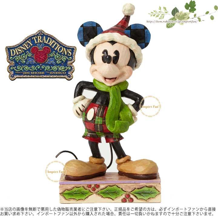 ジムショア ミッキーマウス クリスマス ディズニー 4051966 Merry Mickey-Mickey Mouse Personality Pose Figurine JimShore □