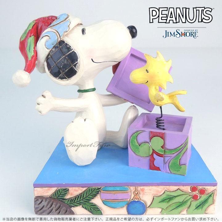 ジムショア スヌーピーとウッドストックのクリスマスサプライズ 4053696 Snoopy and Woodstock Christmas Surprise Figurine JimShore 【ポイント最大42倍!お買物マラソン】