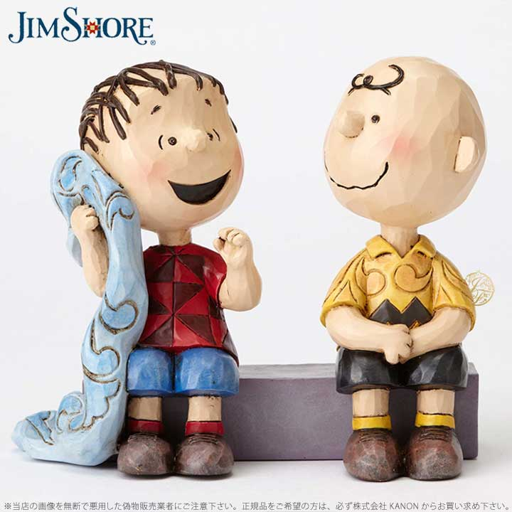 ジムショア 賢明な助言 ライナス チャーリー ブラウン スヌーピー 4054081 Sage Advice-Charlie Brown and Linus on Sidewalk JimShore □