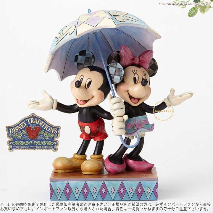 ジムショア ミッキー&ミニー雨の日ロマンス - ミッキーとミニーが仲良く傘をさしています ディズニー 4054280 Rainy Day Romance-Mickey and Minnie Sharing Umbrella Figurine JimShore 【ポイント最大43倍!お買い物マラソン セール】