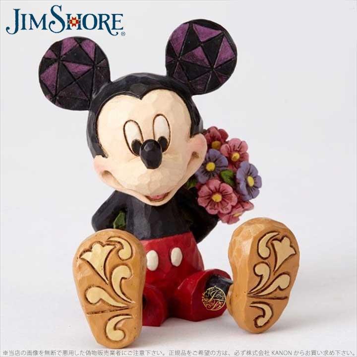 ジムショア 花束をもつミッキーマウス ディズニー 4054284 Mini Mickey Mouse JimShore □